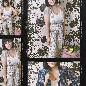 Vintage 80s RARE Boho Cotton Southwest Jumpsuit